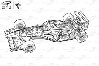 Схема Ferrari 412 T1