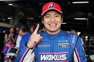 Race winner #6 Lexus Team LeMans Lexus LC500: Kazuya Oshima