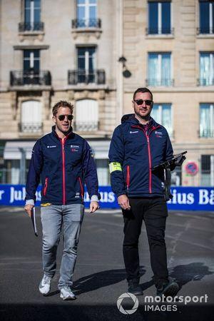 Sam Bird, Envision Virgin Racing, on a track walk