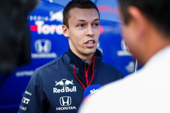 Daniil Kvyat, Toro Rosso speaks with the media