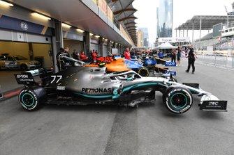 Car of Valtteri Bottas, Mercedes AMG W10 in scrutineering