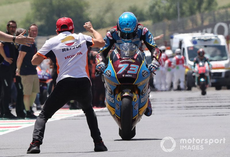 Race winner Alex Marquez, Marc VDS Racing with Marc Marquez, Repsol Honda Team