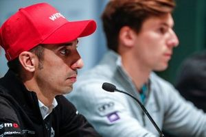 Sébastien Buemi, Nissan e.Dams, in the press conference with Alex Lynn, Panasonic Jaguar Racing