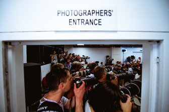 Photographers at the press-conference