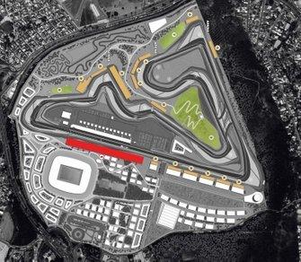 Visão aérea do projeto de autódromo no RIo