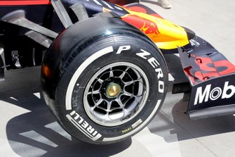 Red Bull Racing front wheel technical detail