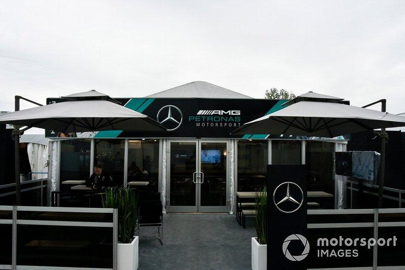 El hospitality de Mercedes F1