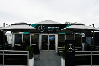 The AMG Mercedes F1 team's hospitality area