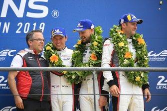 LMGTE Pro terzo posto #93 Porsche GT Team Porsche 911 RSR: Patrick Pilet, Nick Tandy, Earl Bamber