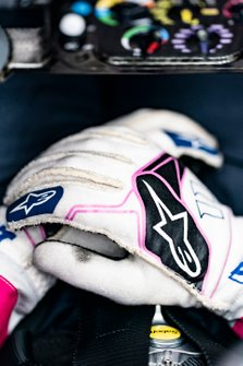 Gloved hands of Sergio Perez, Racing Point