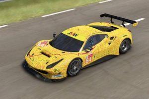 JMW Motorsport Ferrari 488 GTE: Jeffrey Segal, Rodrigo Baptista, Wei Lu