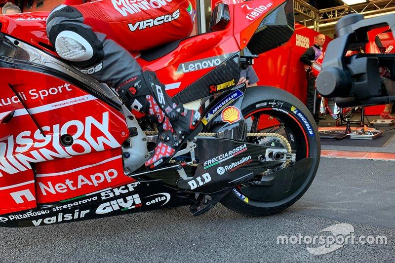 Cubierta del disco de freno trasero de la Ducati Team