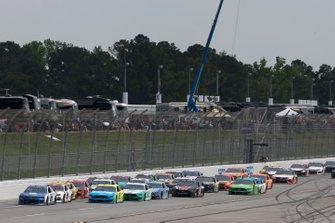 Alex Bowman, Hendrick Motorsports, Chevrolet Camaro Nationwide Ryan Blaney, Team Penske, Ford Mustang Menards/Knauf