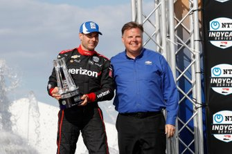 Will Power, Team Penske Chevrolet with Jim Campbell of Chevrolet