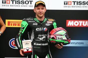 Polesitter Lucas Mahias, Kawasaki Puccetti Racing