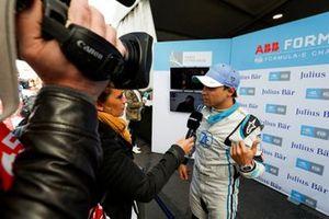 Felipe Massa, Venturi Formula E, is interviewed after superpole