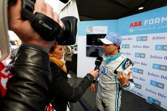 Felipe Massa, Venturi Formula E, viene intervistato dopo la superpole
