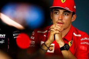 Charles Leclerc, Ferrari, en conférence de presse
