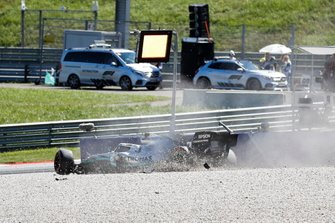 Crash of Valtteri Bottas, Mercedes AMG W10