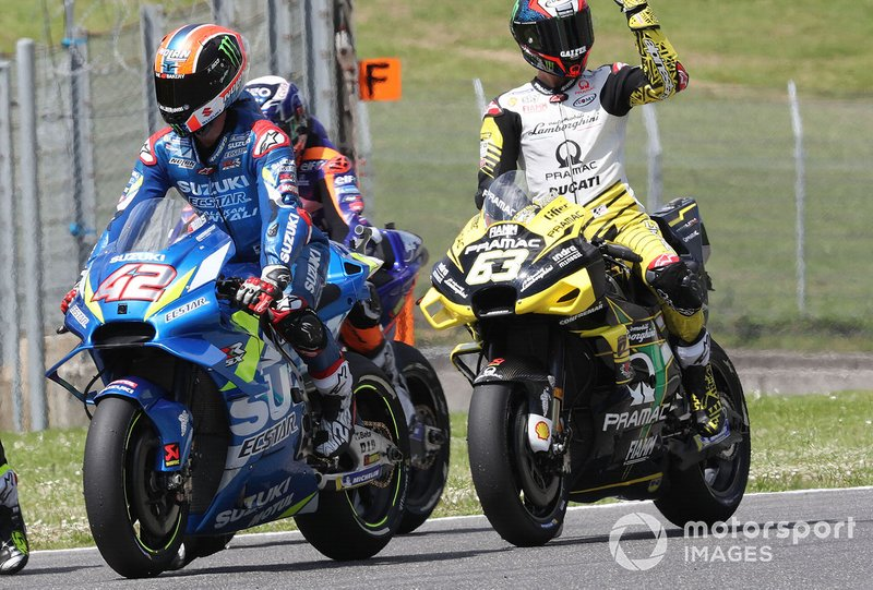 Alex Rins, Team Suzuki MotoGP, Francesco Bagnaia, Pramac Racing