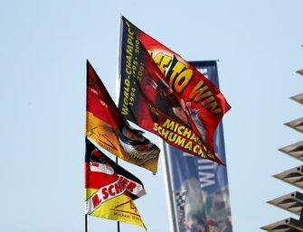 Vlaggen van Michael Schumacher