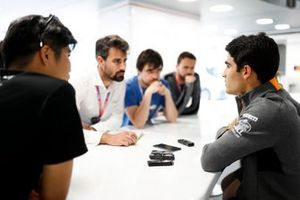 Sergio Sette Camara, McLaren speaks to the media
