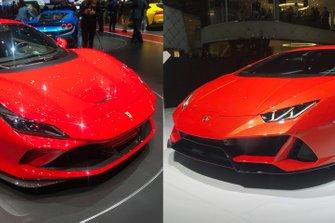 Lamborghini vs. Ferrari live Ginevra