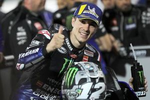 Pole sitter Maverick Vinales, Yamaha Factory Racing
