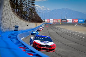 Joey Logano, Team Penske, Ford Mustang AAA Southern California, Ryan Blaney, Team Penske, Ford Mustang PPG