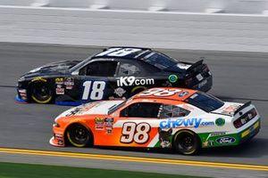 Jeffrey Earnhardt, Joe Gibbs Racing, Toyota Supra iK9 and Chase Briscoe, Stewart-Haas Racing, Ford Mustang Nutri Chomps/Chewy.com
