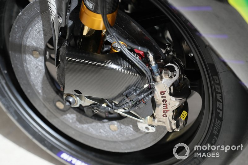 Valentino Rossi, Yamaha Factory Racing detalle del freno