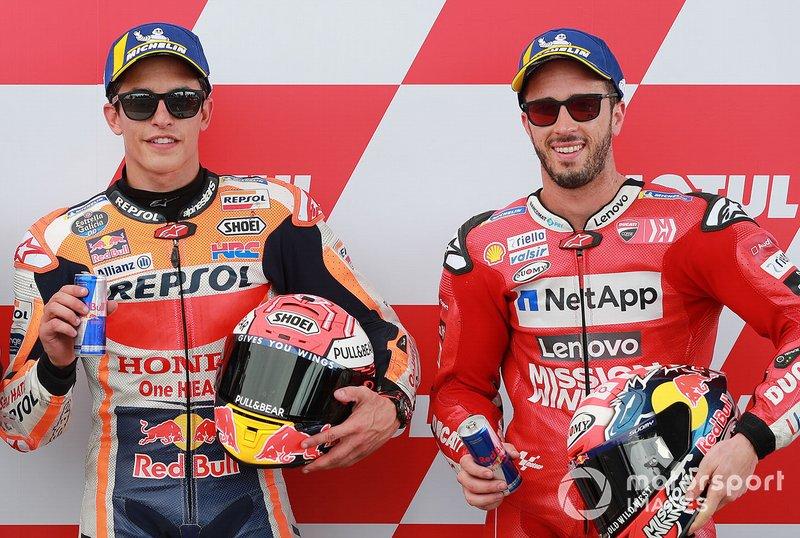 Il poleman Marc Marquez, Repsol Honda Team, il terzo, Andrea Dovizioso, Ducati Team