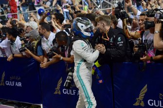 Valtteri Bottas, Mercedes AMG F1, 2nd position, in Parc Ferme