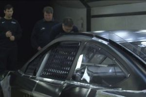 NASCAR Mustang in the wind tunnel