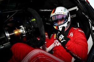 Sebastian Vettel bereidt zich voor