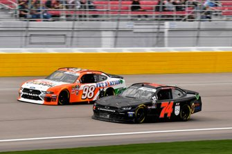 Mike Harmon, Mike Harmon Racing, Chevrolet Camaro and Chase Briscoe, Stewart-Haas Racing, Ford Mustang Nutri Chomps