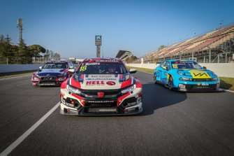 Tiago Monteiro, KCMG Honda Civic Type R TCR, Andy Priaulx, Cyan Performance Lynk & Co 03 TCR, Gabriele Tarquini, BRC Hyundai N Squadra Corse Hyundai i30 N TCR
