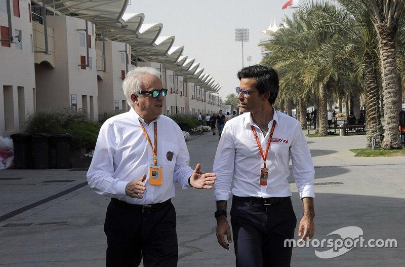 Charlie Whiting junto a Diego Mejía, Editor en Jefe de Motorsport.com Latinoamérica