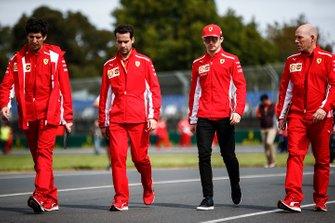 Charles Leclerc, Ferrari, en Jock Clear, Race Engineer, Ferrari