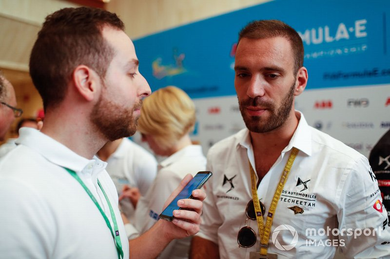 Jean-Eric Vergne, DS TECHEETAH talks to the press
