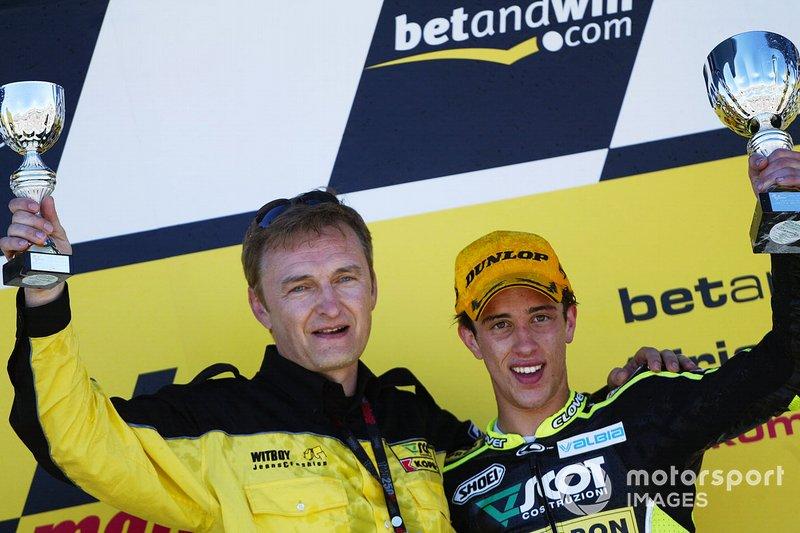 Andrea Dovizioso avec son team manager Mirko Cecchini