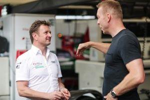 Allan McNish, Team Principal, Audi Sport Abt Schaeffler, talks to Olympic gold medalist Sir Chris Hoy