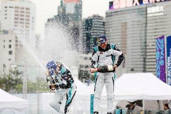PRO class winner Bryan Sellers, Rahal Letterman Lanigan Racing celebrates with PRO AM class winnerYaqi Zhang, Team China