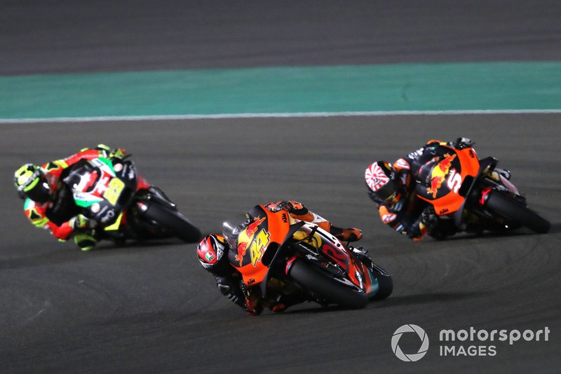 Pol Espargaro, Red Bull KTM Factory Racing, Johann Zarco, Red Bull KTM Factory Racing, Andrea Iannone, Aprilia Racing Team Gresini