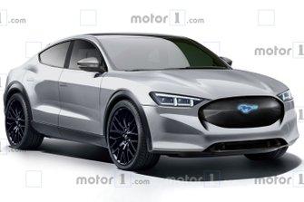 Rendering Ford Mustang elettrica