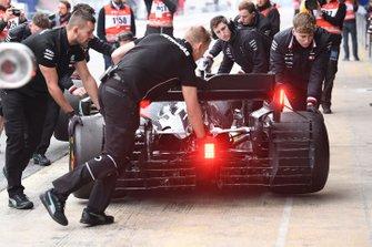 Valtteri Bottas, Mercedes-AMG F1 W10 with aero sensors
