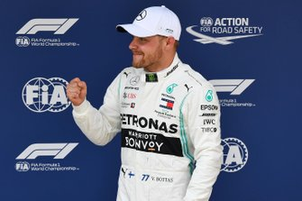Pole man Valtteri Bottas, Mercedes AMG F1, celebrates