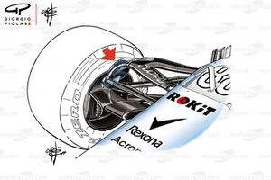 Williams FW42 suspension detail