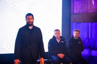 David De Rothschild, Explorateur en Chef d'Extreme E, avec Gil De Ferran, PDG d'Extreme E, et Alejandro Agag, PDG de la Formule E