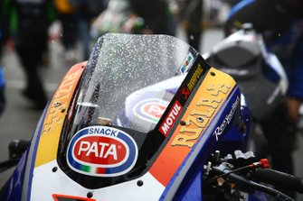Michael van der Mark, Pata Yamaha bike with snow on the screen
